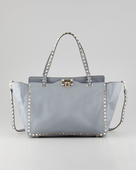 Rockstud Medium Tote Bag, Light Blue