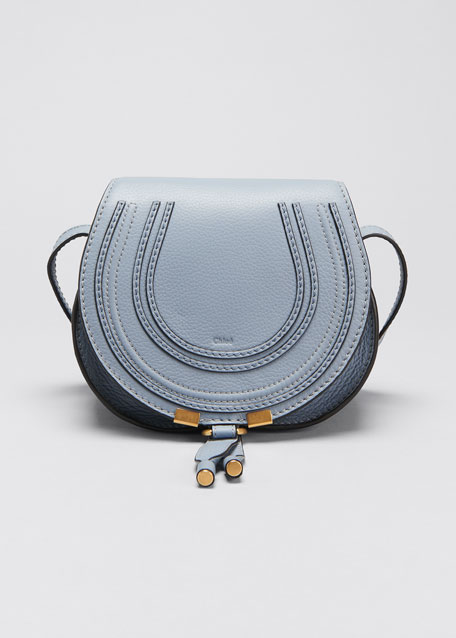 Chloe Marcie Small Leather Crossbody Bag, Gray