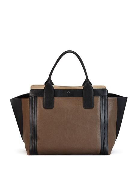 Chloe Alison East-West Colorblock Tote Bag, Gray 292fab1d1f