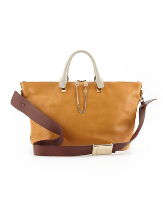 Baylee Large Shoulder Bag, Brown
