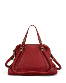 Chloe Paraty Medium Shoulder Bag, Red