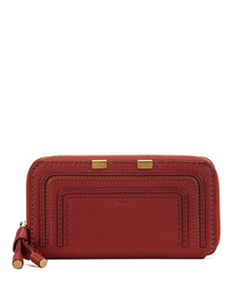 Chloe Marcie Continental Zip Wallet, Red