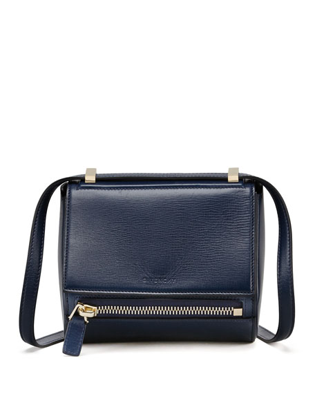 Pandora Box Small Leather Shoulder Bag, Blue