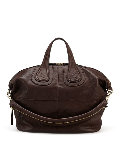 Nightingale Zanzi Medium Satchel Bag, Chocolate