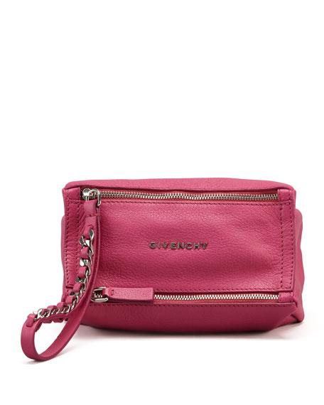 Givenchy Pandora Wristlet Leather Pouch, Fuchsia 00421ad994