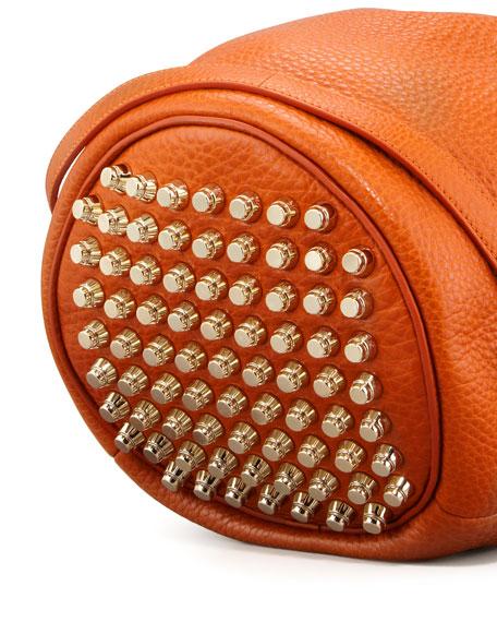 Diego Bucket Bag, Orange/Pale Golden
