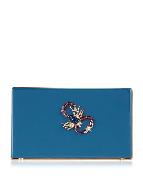 Pandora Scorpio Zodiac Clutch, Teal