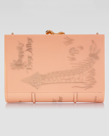 Happily Ever After Novel Perspex Clutch, Pink