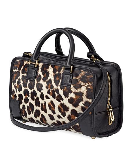 Amazona 23 Calf Hair Bag, Stone/Black