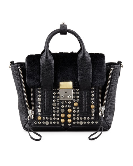 3.1 Phillip Lim Woman Studded Leather Shoulder Bag Black Size 3.1 Phillip Lim Websites Cheap Online z3gE8oxLa