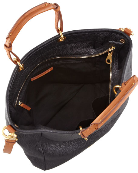 Softy Saddle Tote Bag, Black