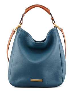 MARC by Marc Jacobs Softy Saddle Large Hobo Bag, Blue