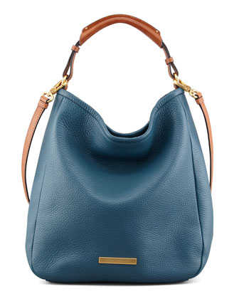 Softy Saddle Large Hobo Bag, Blue