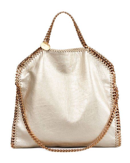 Falabella Fold-Over Shoulder Bag, Gold