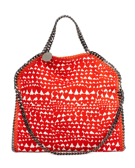 Falabella Fold-Over Shoulder Bag, Flame