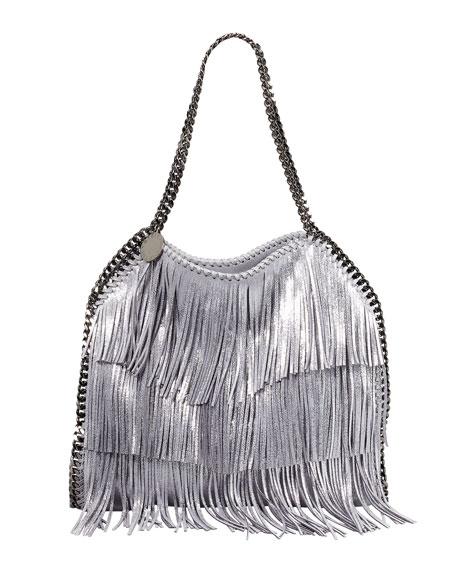 Falabella Fringe Tote Bag, Platinum