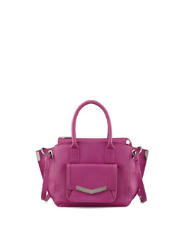 Time's Arrow Mini Jo Luggage Tote Bag, Magenta