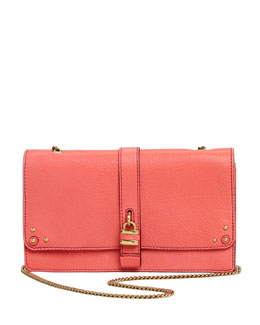 Chloe Aurore Padlock Wallet on a Chain, Pink