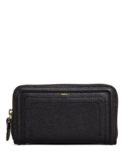 Chloe Paraty Long Zip Wallet, Black