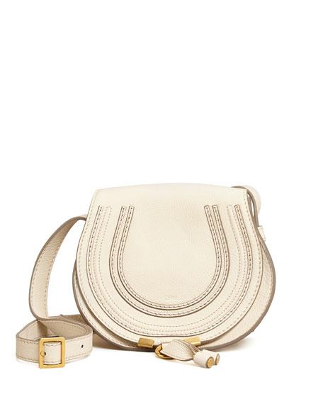 Marcie Small Crossbody Satchel Bag, White