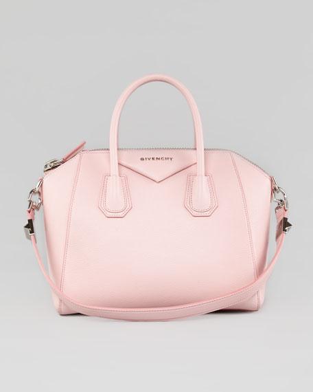 Givenchy Antigona Small Leather Satchel Bag, Light Pink