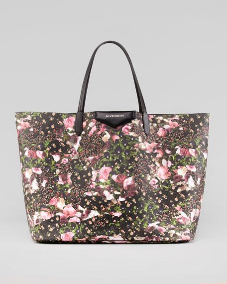 Antigona Large Floral-Print Shopper Bag