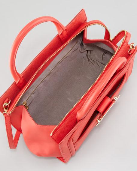 Daphne 2 Leather Crossbody Bag, Coral