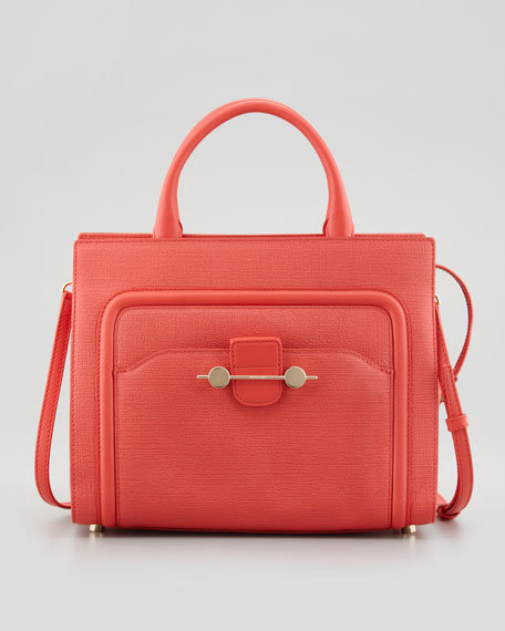 Daphne 2 Leather Crossbody Bag, Coral
