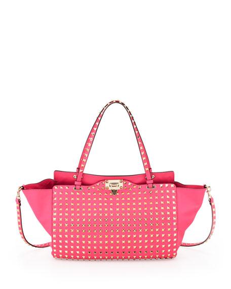 Rockstud All Over Tote Bag, Pink