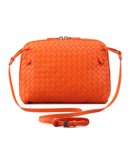 Bottega Veneta Veneta Small Crossbody Bag, Orange