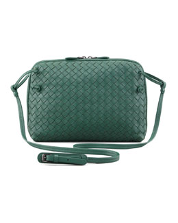 Bottega Veneta Veneta Small Crossbody Bag, Mint Green