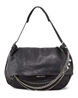 Jimmy Choo Biker Chain-Detailed Hobo Bag
