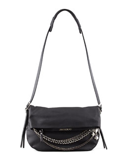 Jimmy Choo Biker Small Crossbody Bag, Black