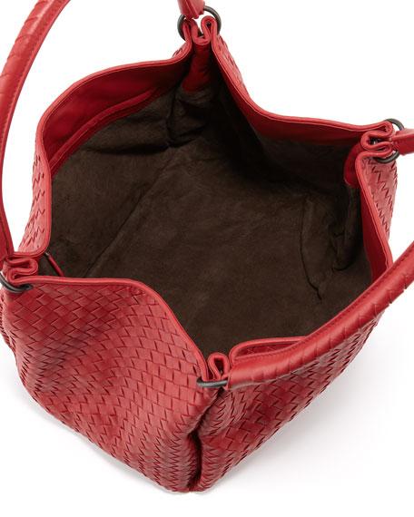 Parachute Intrecciato Shoulder Tote Bag, Red