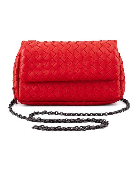 Woven Mini Crossbody Bag, Red
