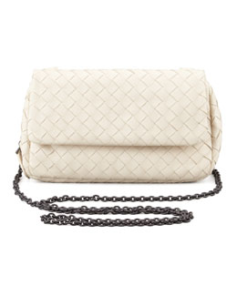Bottega Veneta Woven Mini Crossbody Bag, Pearl