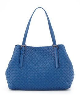 Bottega Veneta Veneta A-Shape Medium Tote Bag, Blue