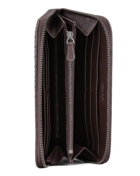 Continental Zip-Around Wallet, Dark Brown