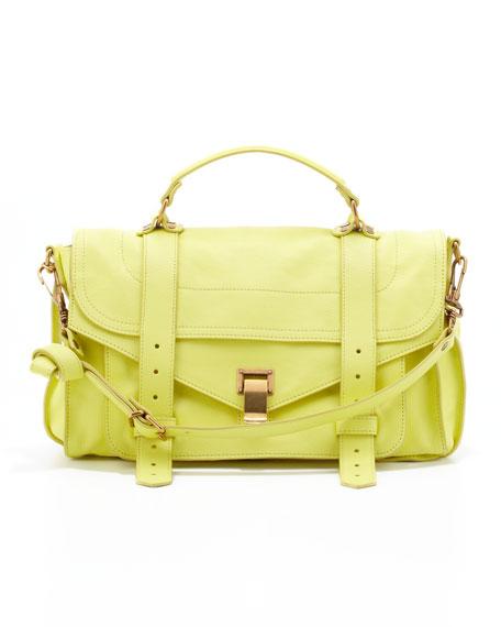 PS1 Medium Leather Satchel Bag, Lemon