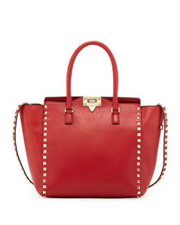 Valentino Rockstud Tote Bag, Red