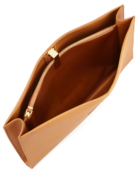 Large Wrap Clutch/Portfolio, Camel