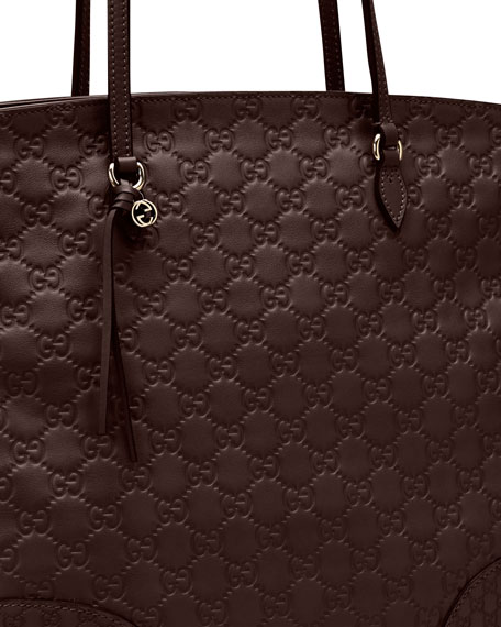 Bree Guccissima Medium Tote Bag, Dark Brown