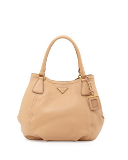Prada Daino Medium Shoulder Tote Bag, Tan (Noisette)