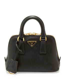Saffiano Mini Promenade Bag, Black (Nero)