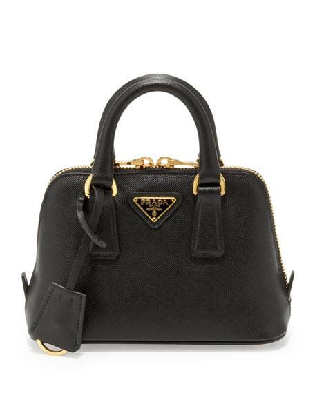 prada saffiano promenade handbag nero