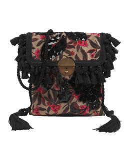 Marc Jacobs Floral Embroidered Surfer Bag