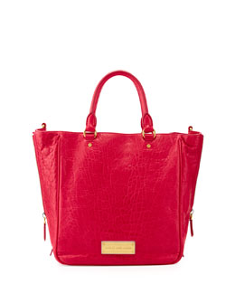MARC by Marc Jacobs Washed Up Leather Tote Bag, Raspberries