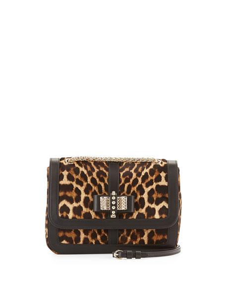 3d5b8f51b18 Christian Louboutin Sweet Charity Small Calf Hair Shoulder Bag, Leopard