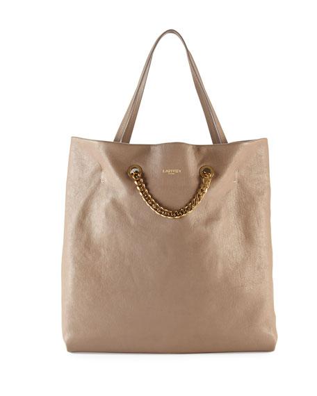 Carry Me Lambskin Medium Tote Bag, Tan