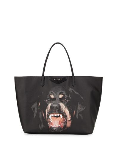 Antigona Large Coated Canvas Shopping Tote Bag